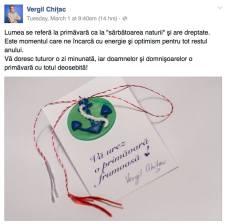 Vergil Chițac are un mărțișor cu numele lui