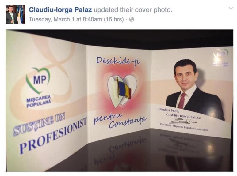 Mărțișorul lui Claudiu Palaz de 1 Martie