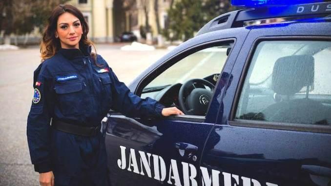 Irina Drăgan, angajată a Jandarmeriei. FOTO Facebook