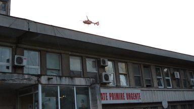 Elicopterul SMURD la Spitalul de Urgență Constanța. FOTO Adrian Boioglu