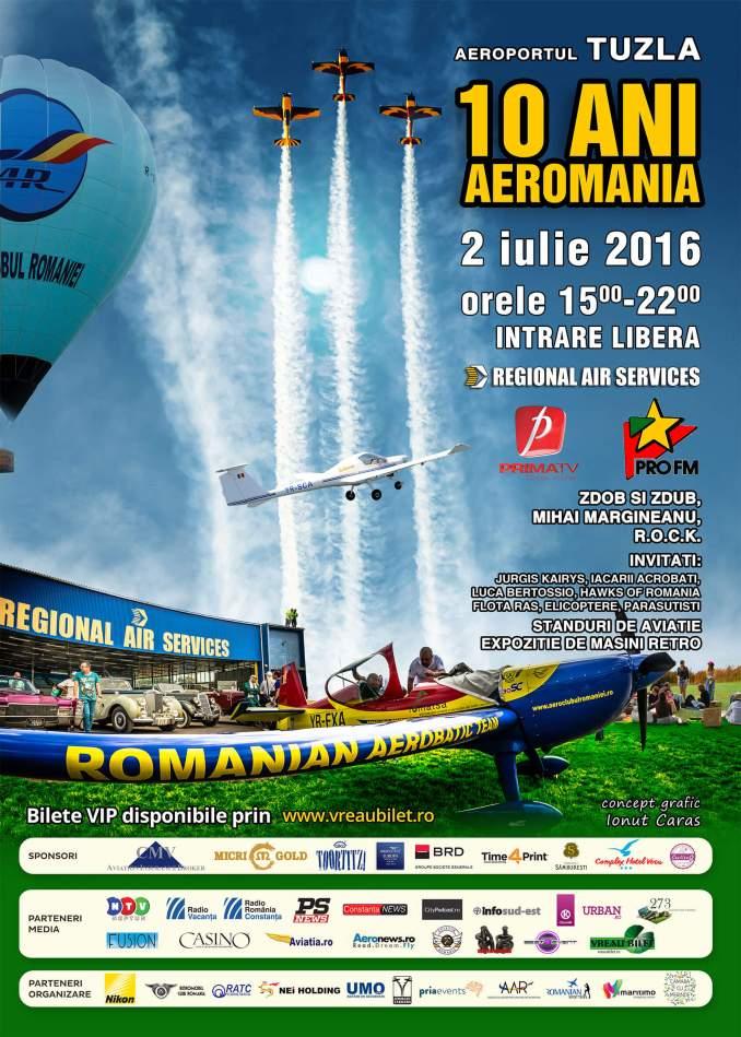 Afiș 10 ani de Aeromania
