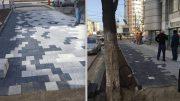 Trotuarul greșit (stanga) și trotuarul corect (dreapta)