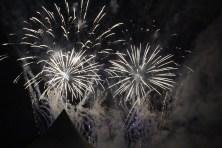 Artificii la Ziua comunei Peștera 2016. FOTO Adrian Boioglu