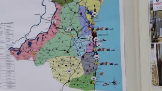 Harta punctelor de prim ajutor de pe litoral. FOTO Adrian Boioglu