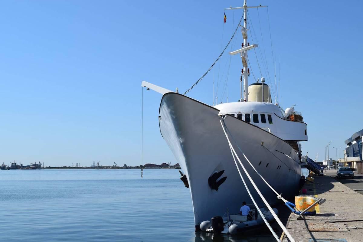"""Yachtul """"Christina O"""" în Portul Constanța"""
