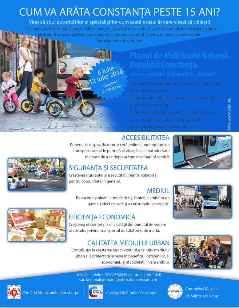 Poster Saptamana Planului de Mobilitate Urbană