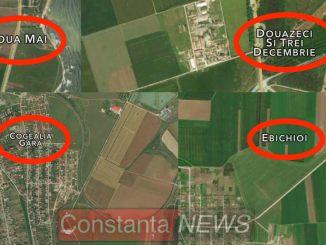 Localități inexistente pe Apple Maps. Colaj FOTO Adrian Boioglu, Constanța NEWS