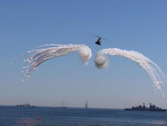 Elicopter la Ziua Marinei Române. FOTO Adrian Boioglu