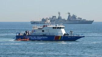 Navă a Poliției de Frontieră la Ziua Marinei Române. FOTO Adrian Boioglu