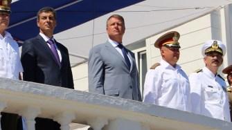 Președintele Klaus Iohannis la Ziua Marinei Române. FOTO Adrian Boioglu