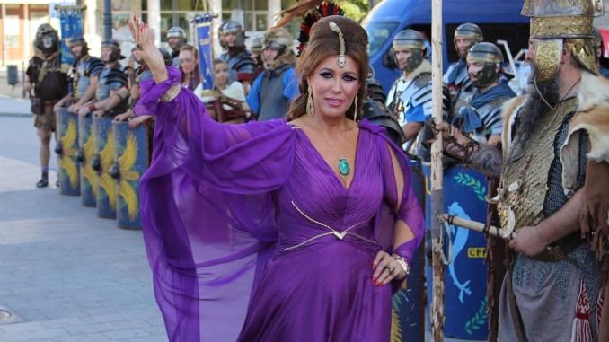 Corina Martin în rolul zeiței Tomiris, la Festivalul Antic Tomis. FOTO Adrian Boioglu