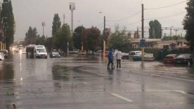 Inundație la Constanța. FOTO Ștefan Gîrdeanu