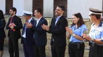 Marius Liviu Petre la deschiderea școlii din Peștera. FOTO Adrian Boioglu