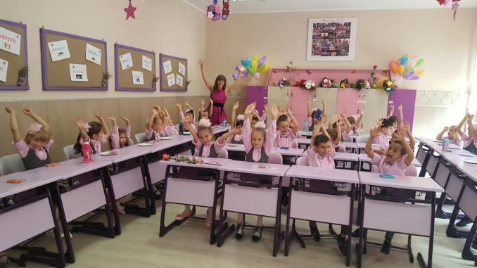 Elevi la școala Gheorghe Țițeica din Constanța