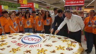 Tortul uriaș de la deschiderea cora City Park Mall