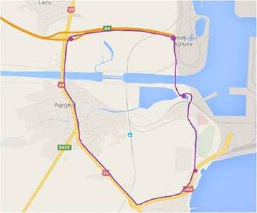 Ruta ocolitoare pentru podul de la Agigea
