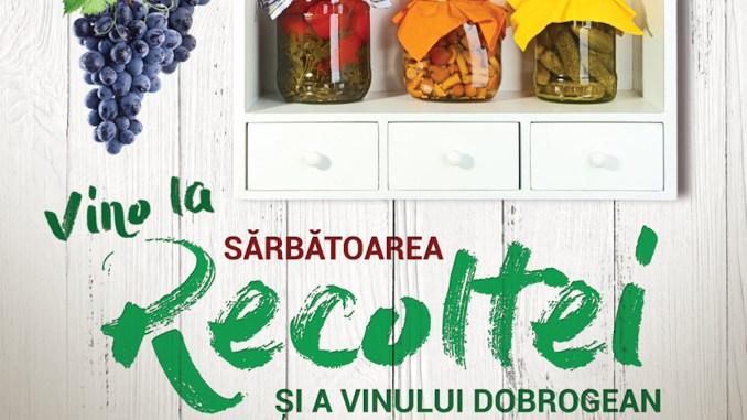 """Afiș """"Sărbătoarea Recoltei și a Vinului Dobrogean"""""""