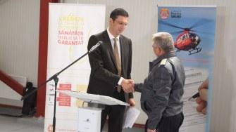 Horia Țuțuianu la inaugurarea heliportului SMURD Constanța. FOTO Adrian Boioglu