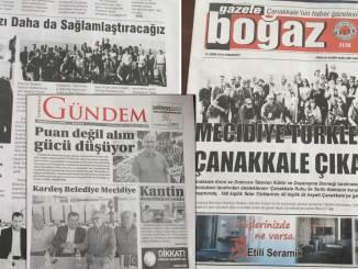 Primarul Valentin Vrabie în ziarele turcești. Colaj FOTO Adrian Boioglu