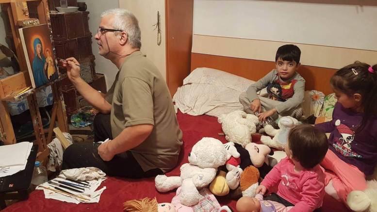 Dan Deaconu și o parte dintre copiii săi