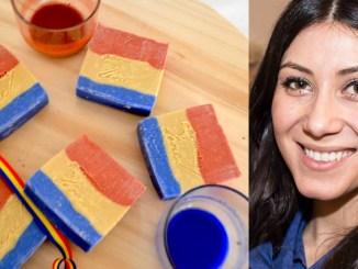 Oana Stan și săpunul ei tricolor. Colaj FOTO Constanța NEWS