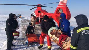 Elicopterul SMURD, acțiune de iarnă