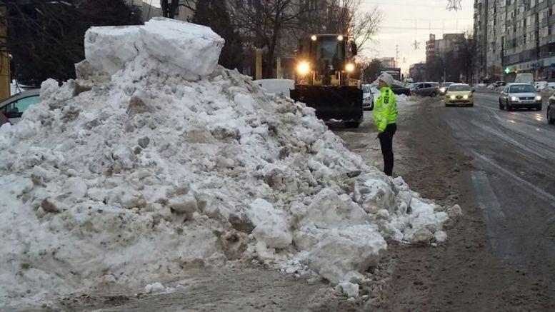 Zăpezi în orașul Constanța