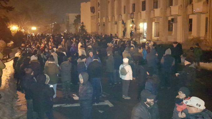 Protest în fața Prefecturii din Constanța