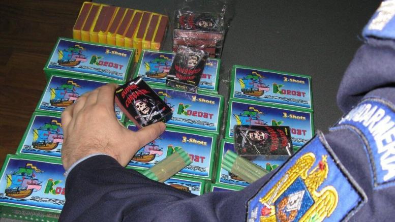 Petarde și artificii confiscate de Jandarmi
