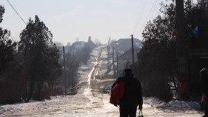 Drum cu zăpadă. FOTO Adrian Boioglu