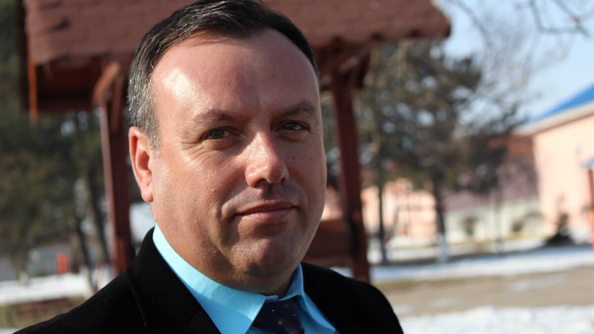 Viorel Petre, primarul comunei Tîrgușor. FOTO Adrian Boioglu