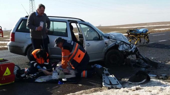 Accident mortal la Hârșova. FOTO ISU Dobrogea