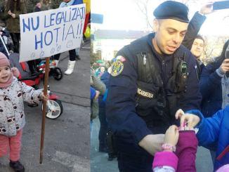 Protestul copiilor, la Constanța. FOTO Cristina Chilianu