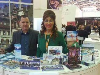 Corina Martin și Daniel Ilușcă la Târgul de Turism de la Moscova