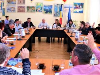 Vot în ședința de Consiliu Local Medgidia. FOTO Primăria Medgidia