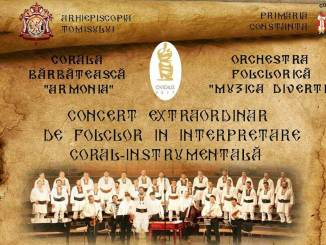 """Corala bărbătească """"Armonia"""" și Orchestra folclorică """"Muzica Divertis"""""""