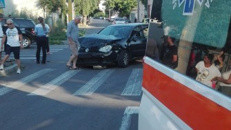 Autoturism accidentat