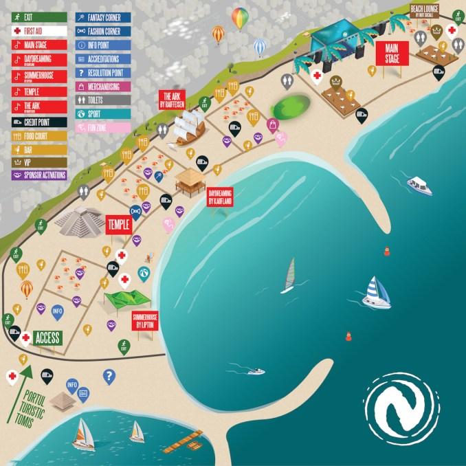 Harta Festivalului Neversea