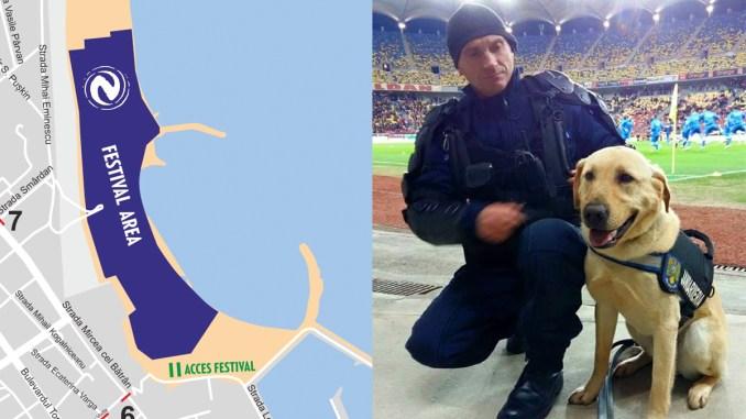 Cățelul anti-explozibil de la Jandarmerie vine la Neversea. FOTO Facebook