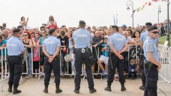 Cordon de jandarmi la Ziua Marinei 2017. FOTO Cătălin Schipor