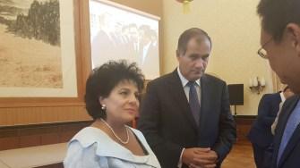 Primarul comunei Cumpănă ec Mariana Gâju și viceprimarul Florin Neagu