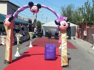 Nuntă organizată în stradă la Medgidia. FOTO Facebook