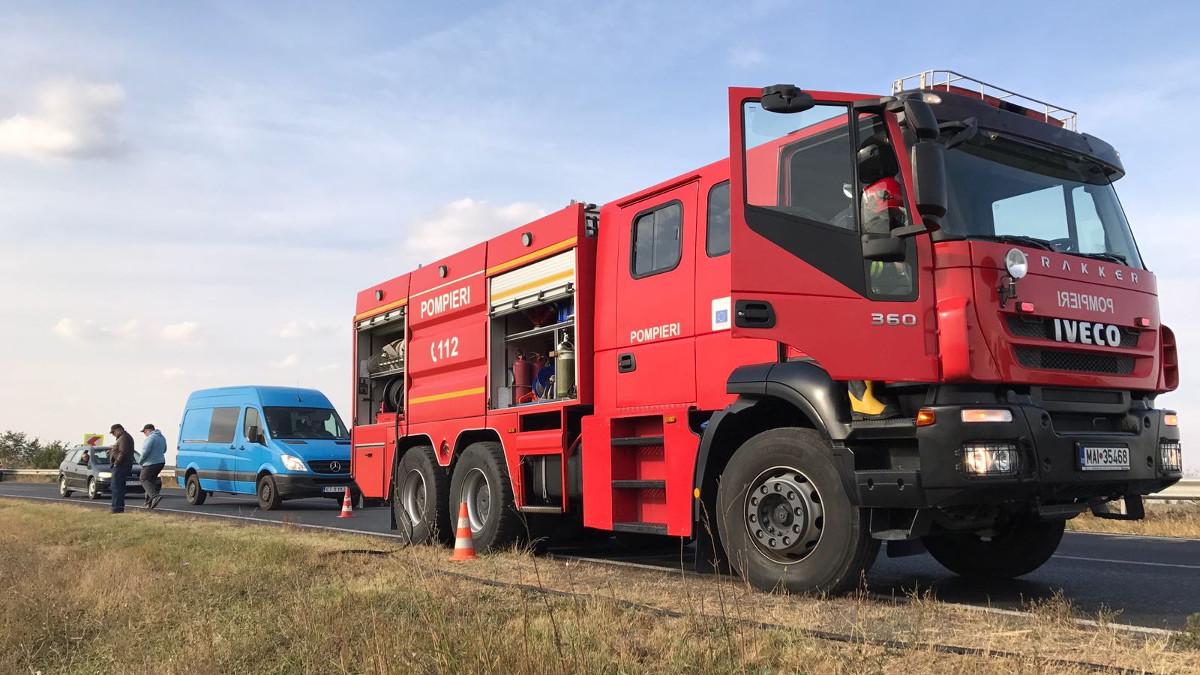 Accident rutier pe DN 22c intre Medgidia si Cuza Voda (8)