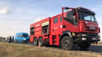 Echipajul de pompieri a intervenit
