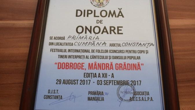 Copii din Cumpăna și-au adjudecat multe din premiile Festivalului