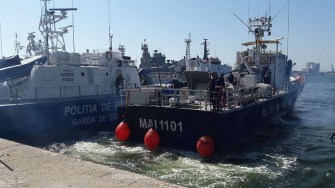 Nava MAI 1104 a Poliţiei de Frontieră Române a plecat in misiune in Marea Egee
