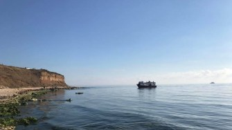 Nave cu migrantui luand cu asalt tarmul romanesc. FOTO FacebookDan MV Chitic