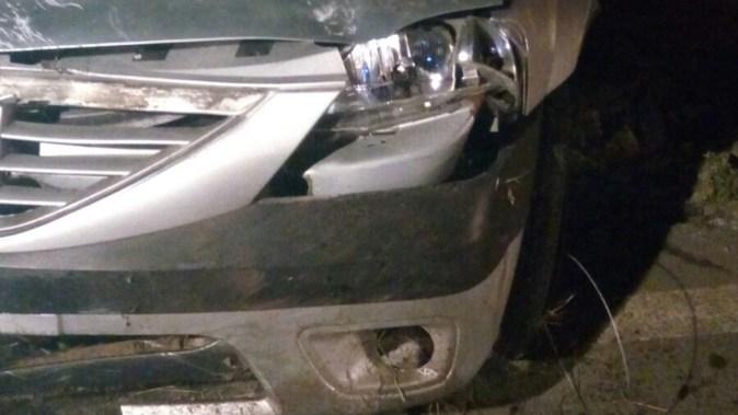 Un bărbat a pierdut controlul volanului și s-a răsturnat cu mașina. FOTO ISU Dobrogea