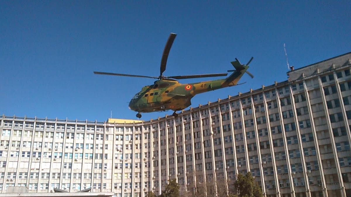Elicopter militar la Spitalul Judetean Constanta (2)