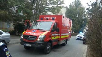 La locul incendiului a fost trimisă și autospeciala pentru victime multiple
